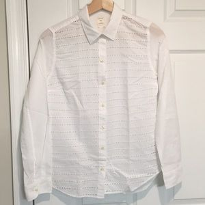 Gap Button Up Shirt, white, XS
